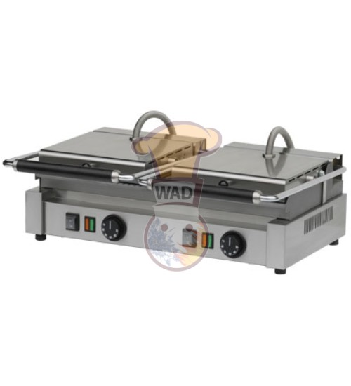 Contact grill with plate