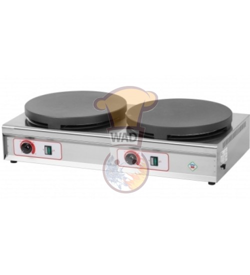 Electric crepe machine with 2 hot plates